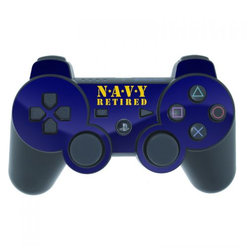 Navy Retired PS3 Controller Skin