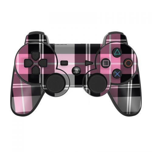 Pink Plaid PS3 Controller Skin