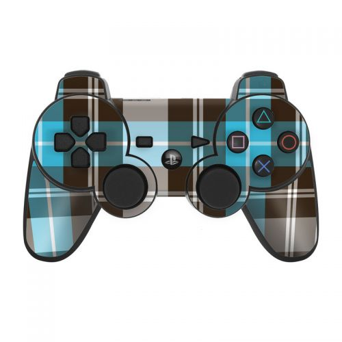 Red Plaid PS3 Controller Skin