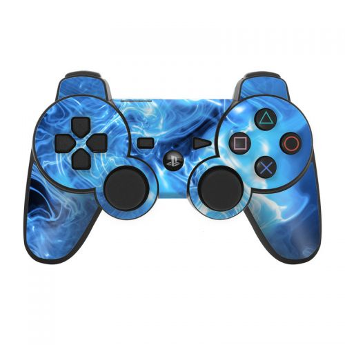 Blue Quantum Waves PS3 Controller Skin