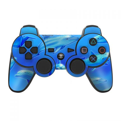 Swimming Dolphins PS3 Controller Skin