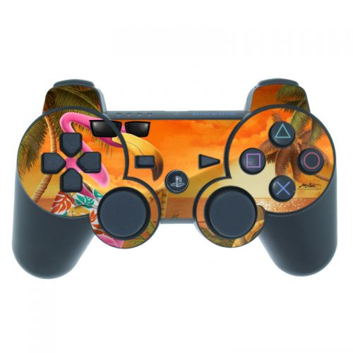 Sunset Flamingo PS3 Controller Skin