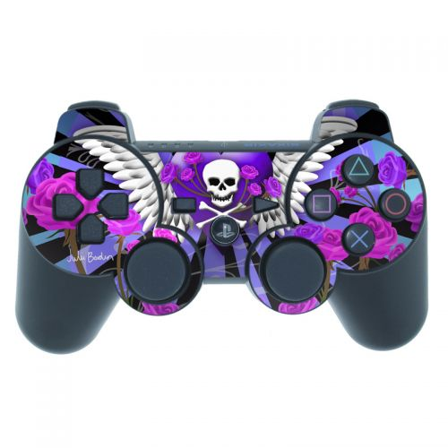 Skull & Roses Purple PS3 Controller Skin