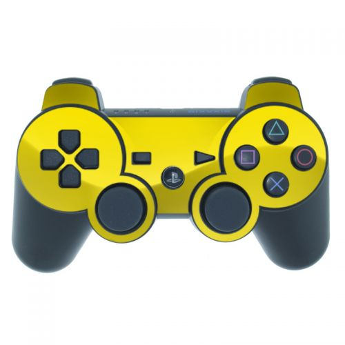 Solid State Yellow PS3 Controller Skin