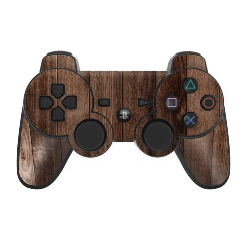Stained Wood PS3 Controller Skin