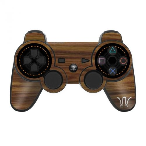 Wooden Gaming System PS3 Controller Skin