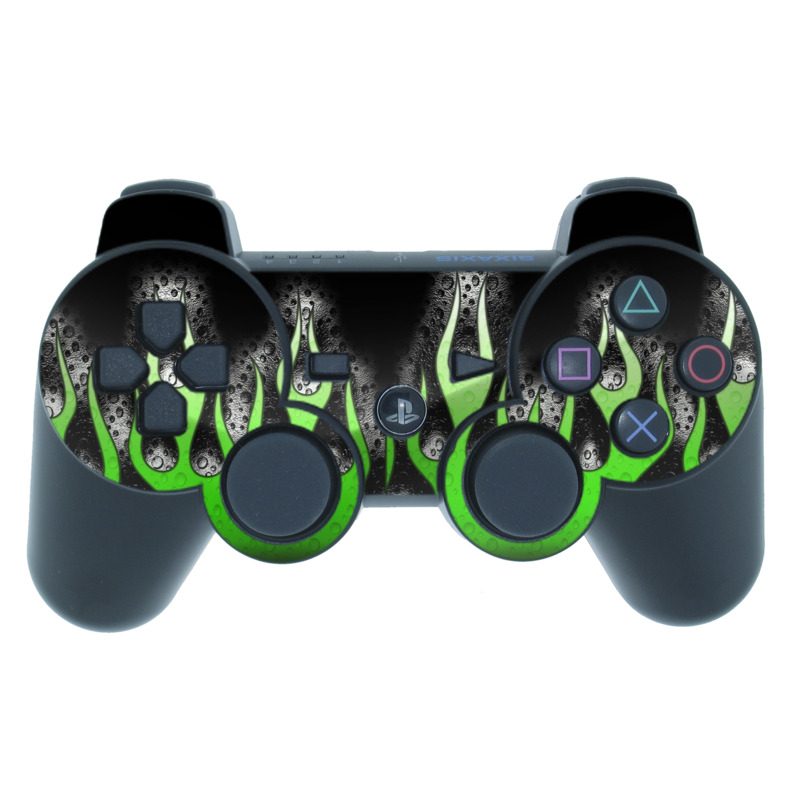 Acid Flames PS3 Controller Skin