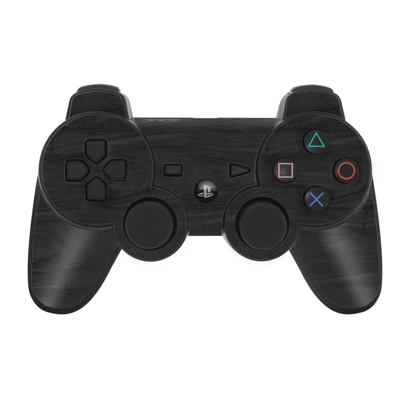 Black Woodgrain PS3 Controller Skin