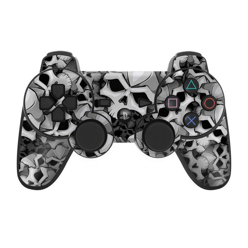 PS3 Controller Skin design of Pattern, Black-and-white, Monochrome, Ball, Football, Monochrome photography, Design, Font, Stock photography, Photography with gray, black colors