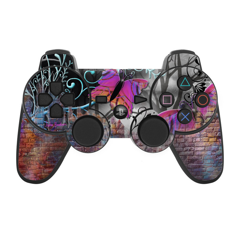 Butterfly Wall PS3 Controller Skin