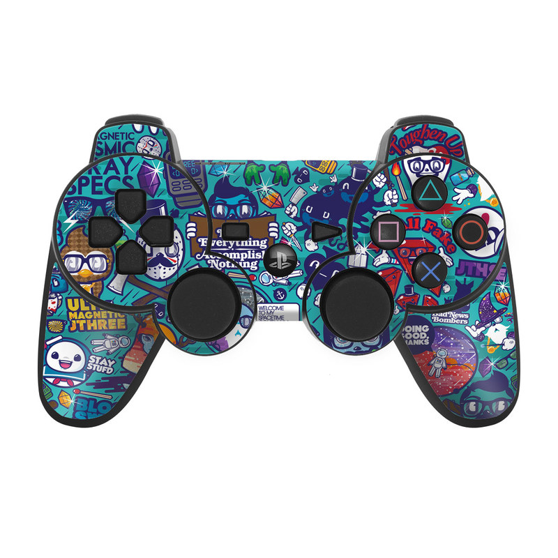 PS3 Controller Skin design of Art, Visual arts, Illustration, Graphic design, Psychedelic art with blue, black, gray, red, green colors