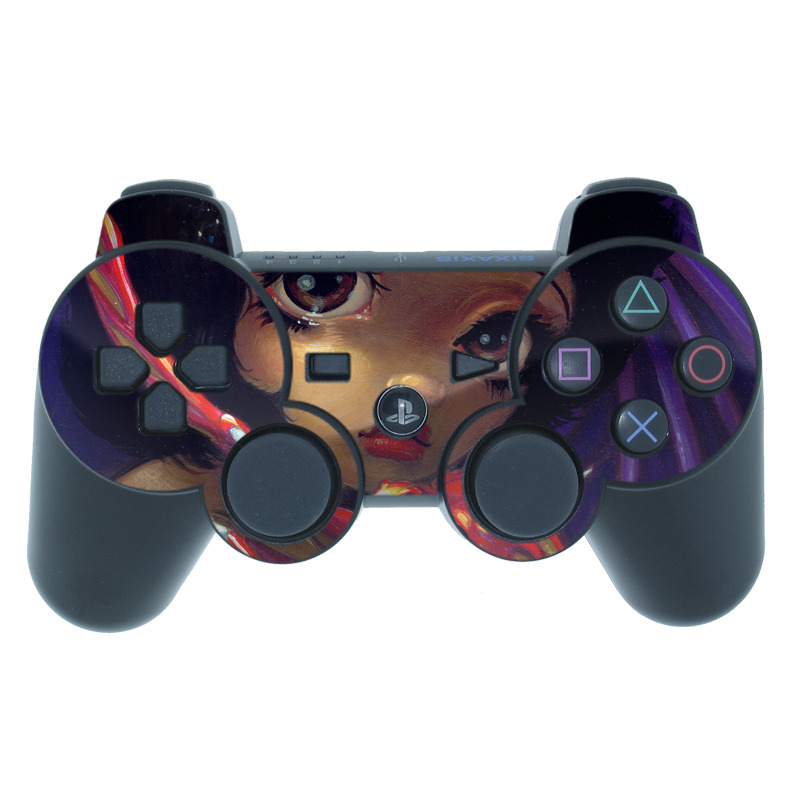 PS3 Controller Skin design of Doll, Illustration, Art, Toy, Fictional character with black, red, green colors