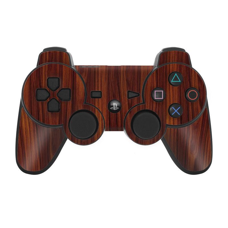 Dark Rosewood PS3 Controller Skin