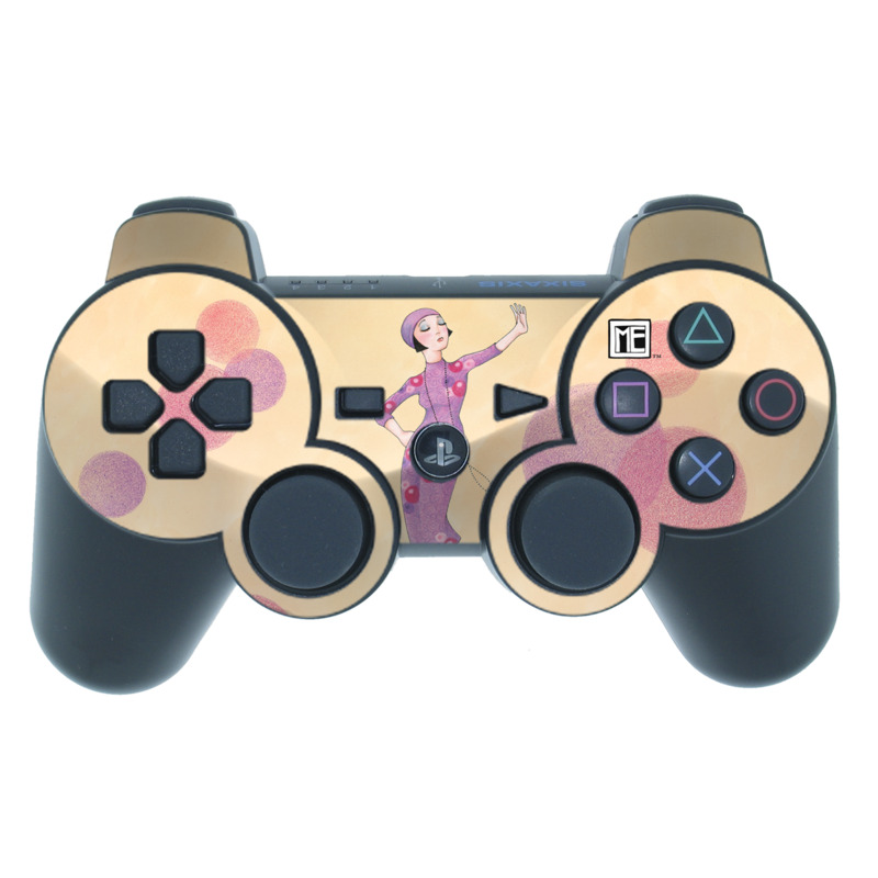 PS3 Controller Skin design of Pink, Illustration, Fashion illustration, Design, Polka dot, Pattern, Art, Style with pink, gray, purple colors