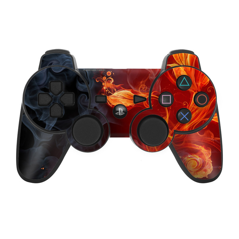 Flower Of Fire PS3 Controller Skin