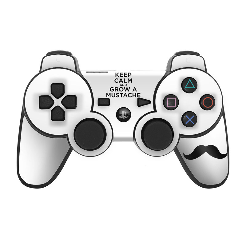 Mustache PS3 Controller Skin
