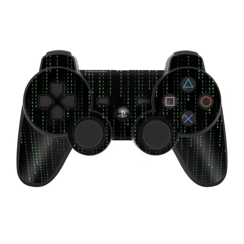 Matrix Style Code PS3 Controller Skin