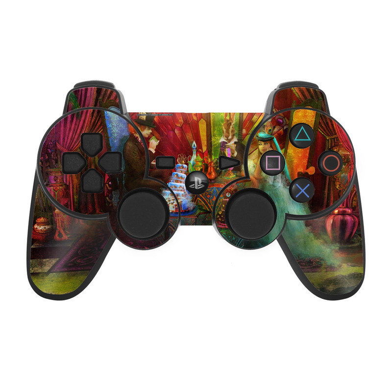 A Mad Tea Party PS3 Controller Skin
