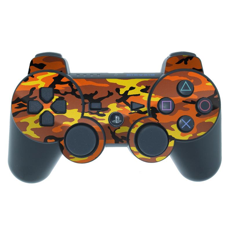 Orange Camo PS3 Controller Skin