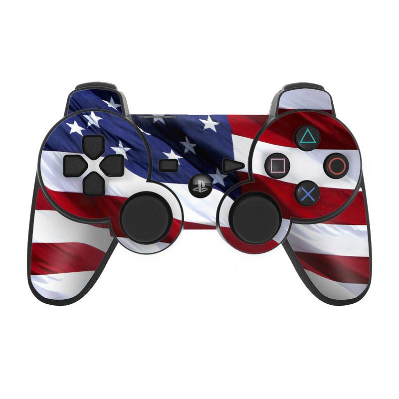 Patriotic PS3 Controller Skin
