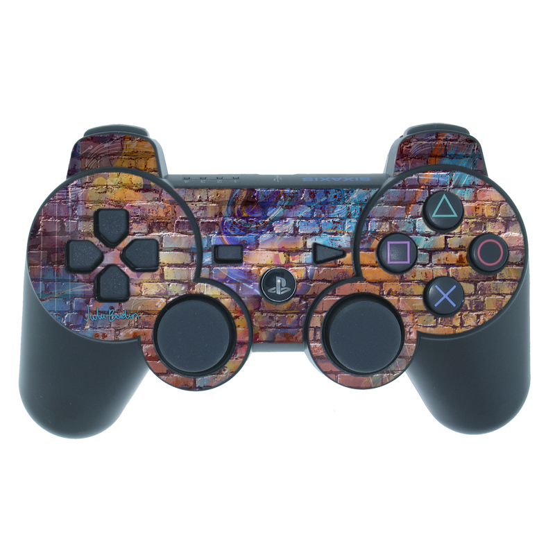 Painted Brick PS3 Controller Skin