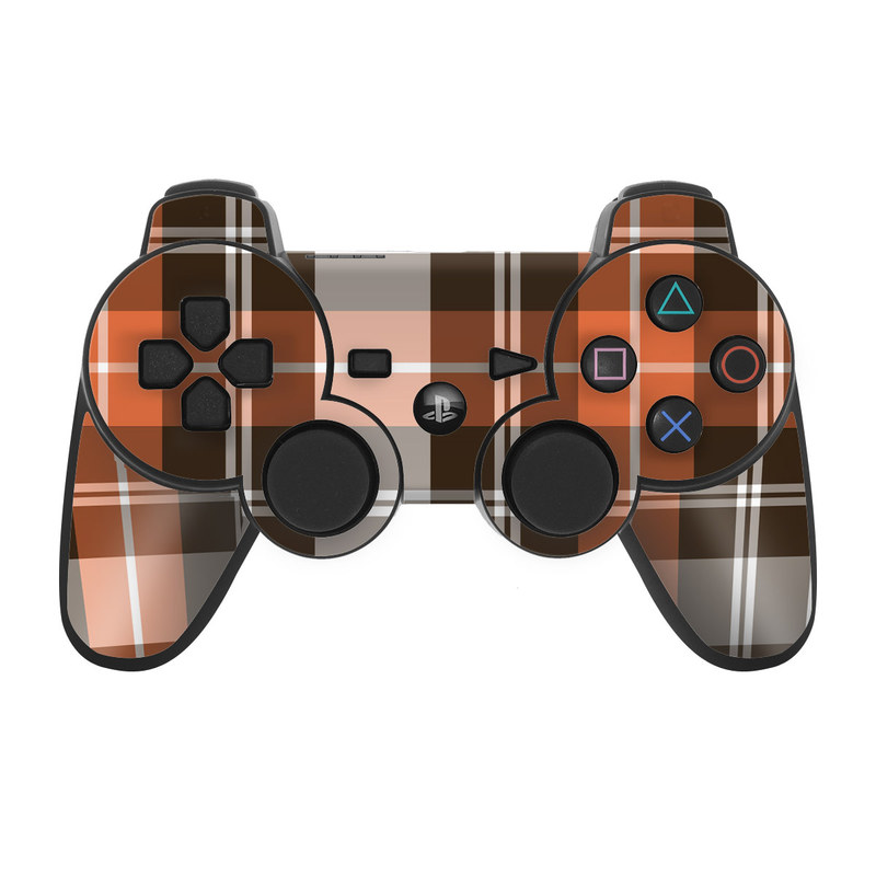 Copper Plaid PS3 Controller Skin