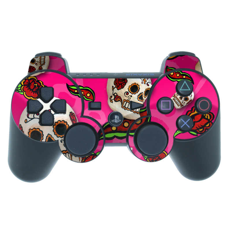 Pink Scatter PS3 Controller Skin