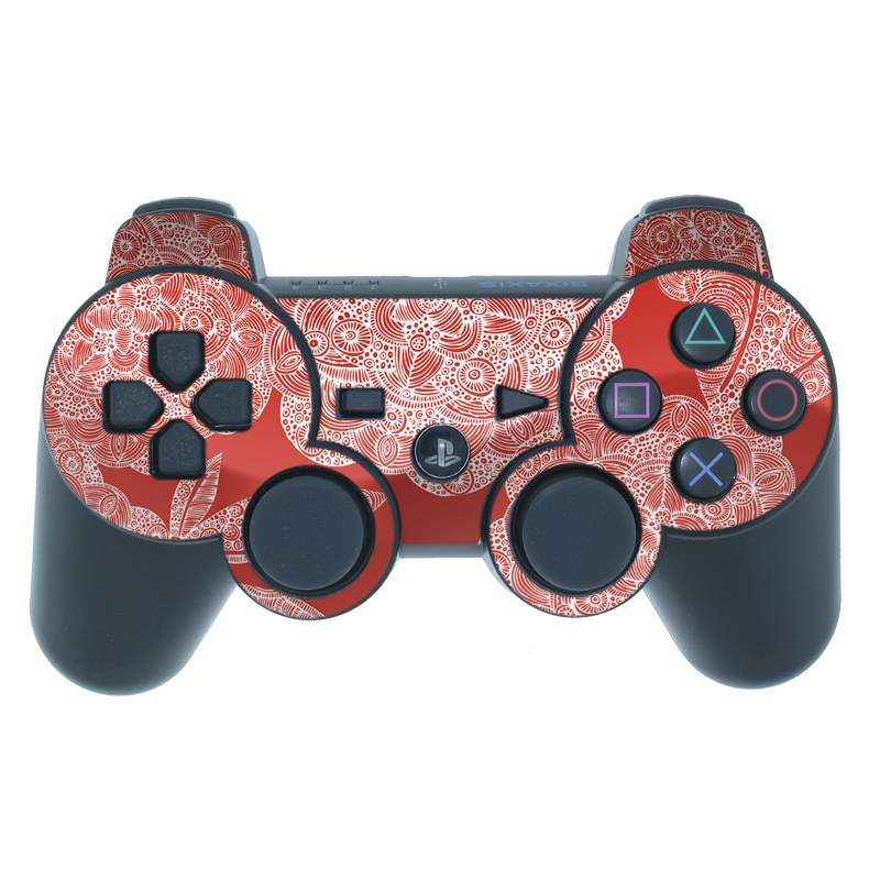 Red Dahlias PS3 Controller Skin
