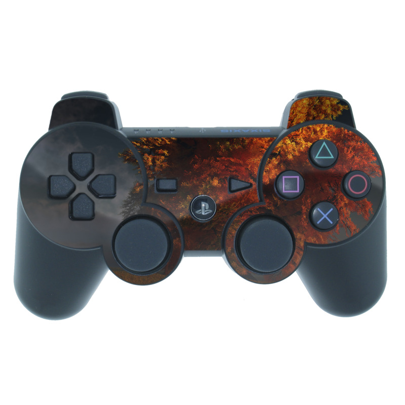 Red and Gold PS3 Controller Skin