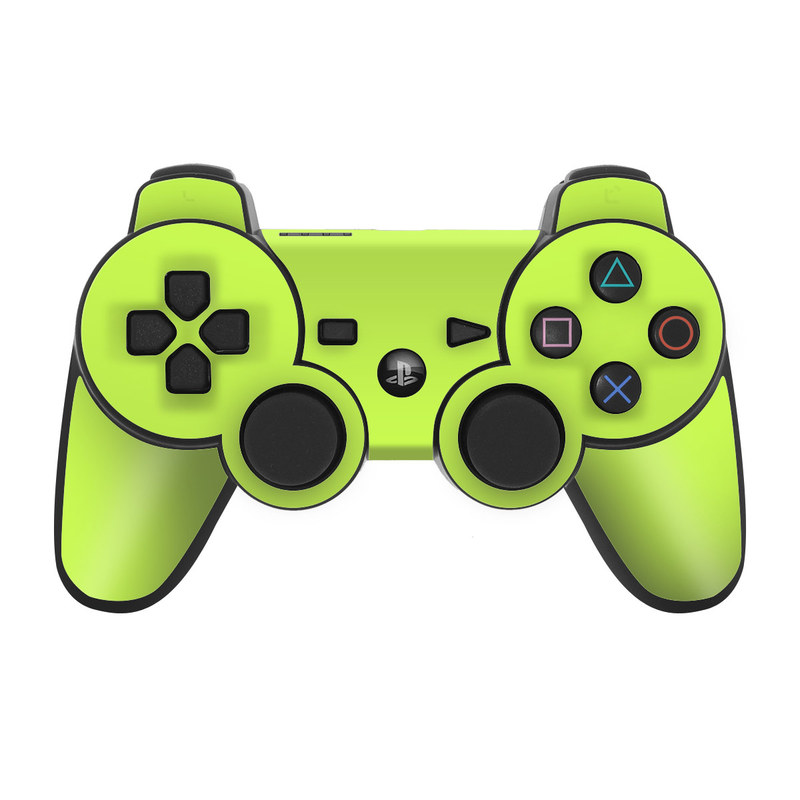 Solid State Lime PS3 Controller Skin