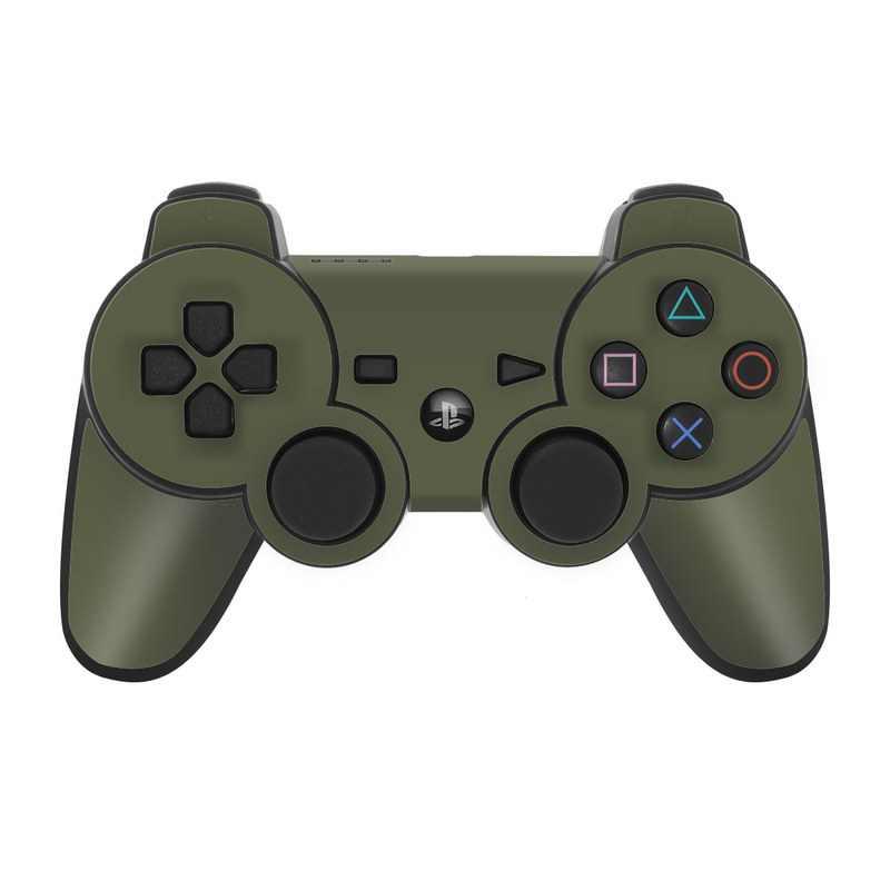 Solid State Olive Drab PS3 Controller Skin