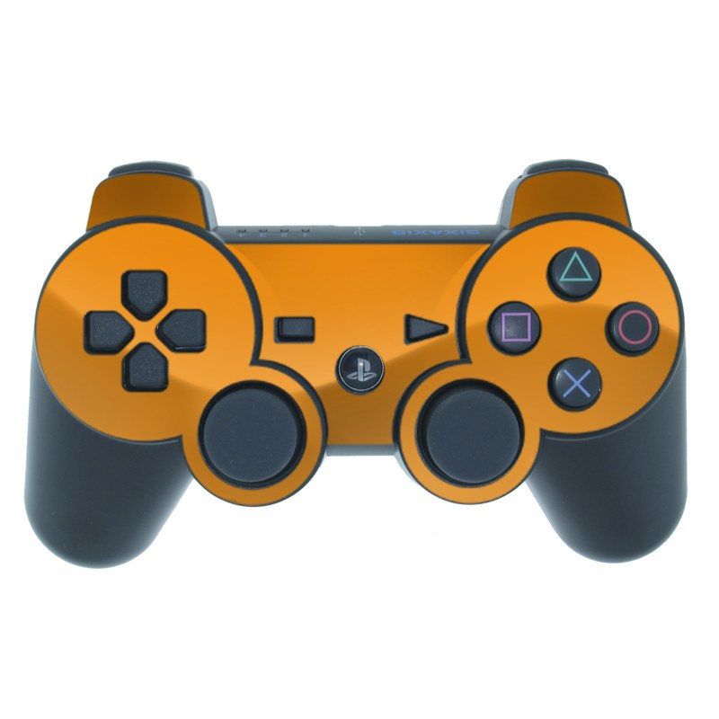 PS3 Controller Skin design of Orange, Yellow, Brown, Text, Amber, Font, Peach with orange colors