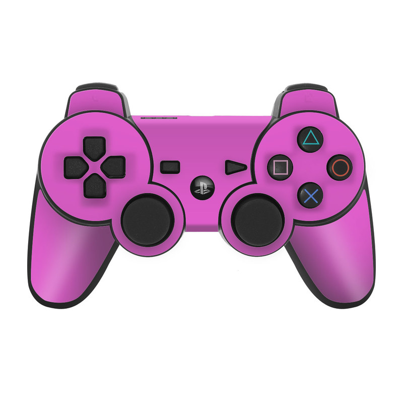 Solid State Vibrant Pink PS3 Controller Skin