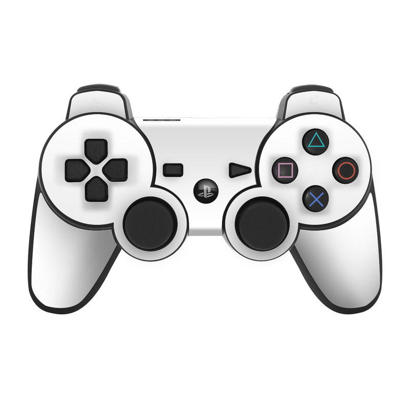 Solid State White PS3 Controller Skin