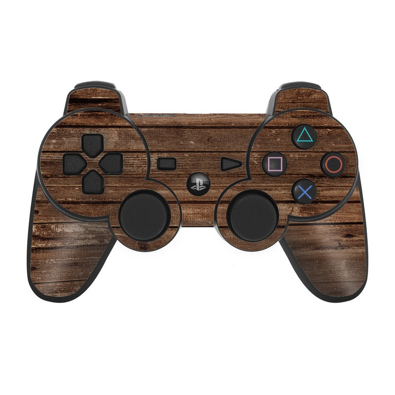 Stripped Wood PS3 Controller Skin