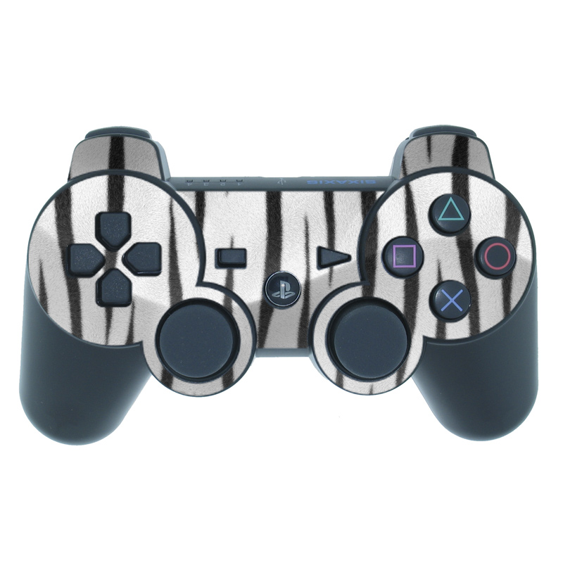White Tiger Stripes PS3 Controller Skin