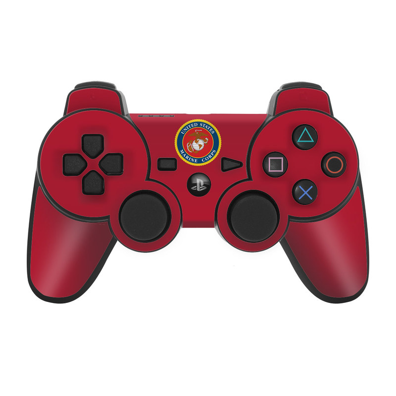 USMC Red PS3 Controller Skin