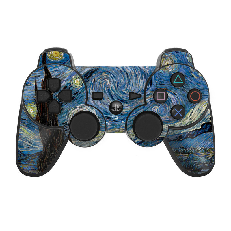 Starry Night PS3 Controller Skin