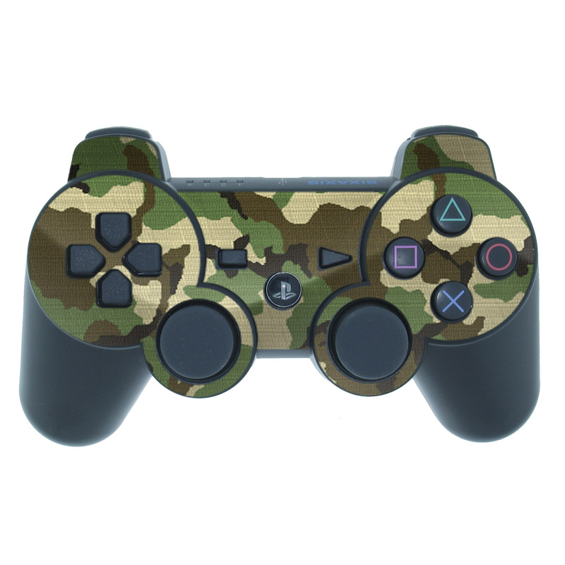 PS3 Controller Skin design of Military camouflage, Camouflage, Clothing, Pattern, Green, Uniform, Military uniform, Design, Sportswear, Plane with black, gray, green colors
