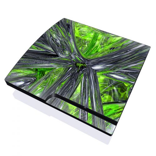 Emerald Abstract PlayStation 3 Slim Skin
