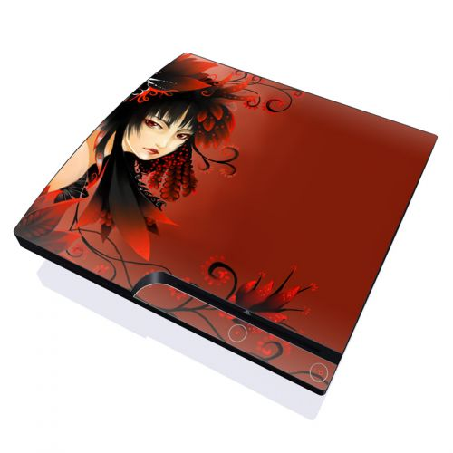 Black Flower PlayStation 3 Slim Skin
