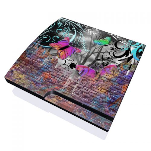 Butterfly Wall PlayStation 3 Slim Skin
