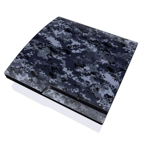 Digital Navy Camo PlayStation 3 Slim Skin