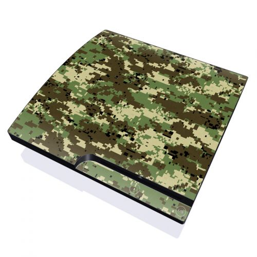 Digital Woodland Camo PlayStation 3 Slim Skin