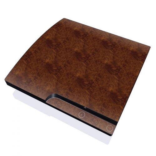 Dark Burlwood PlayStation 3 Slim Skin
