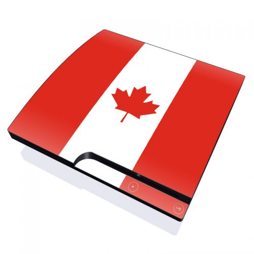 Canadian Flag PlayStation 3 Slim Skin