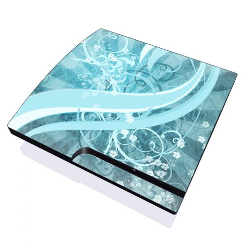 Flores Agua PlayStation 3 Slim Skin