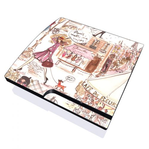 Paris Makes Me Happy PlayStation 3 Slim Skin