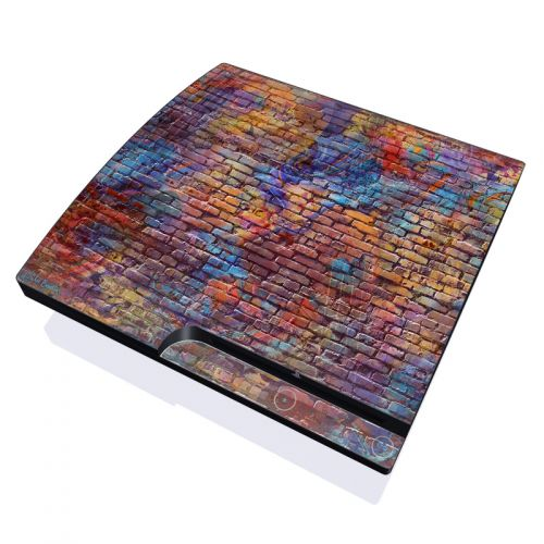 Painted Brick PlayStation 3 Slim Skin