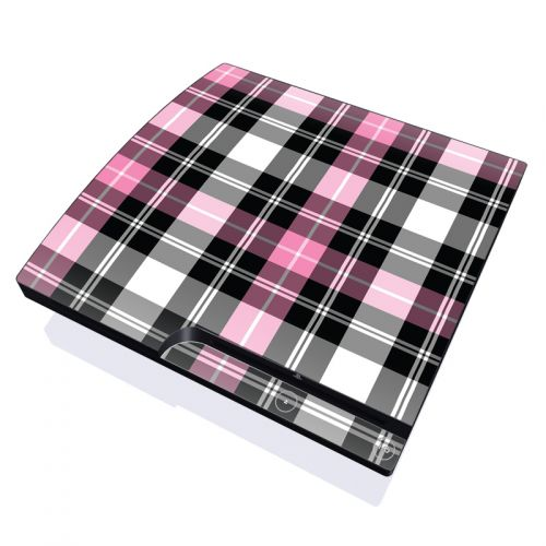 Pink Plaid PlayStation 3 Slim Skin
